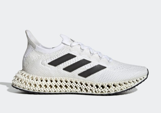 The adidas 4DFWD Emerges In A Classic White/Black Reminiscent Of The Shelltoe