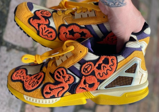 Ghoulish Patches Cover The adidas ZX 8000 For Halloween