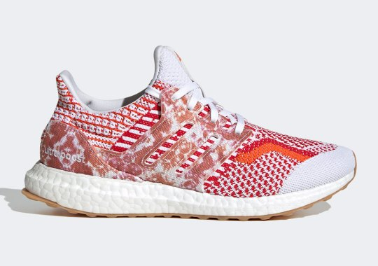 """Recycled Materials Create A Bold Mix Of Patterns On A Women's Ultraboost 5.0 DNA """"Nature Lab"""""""