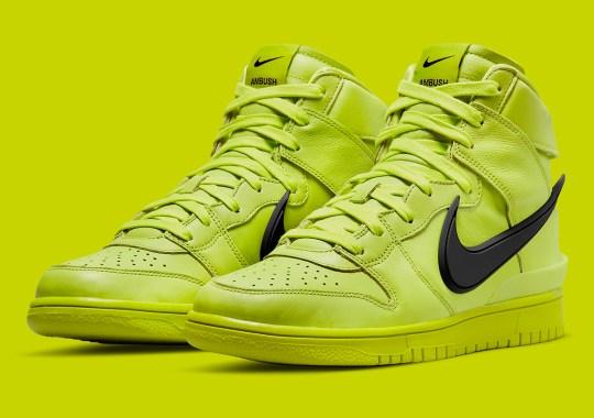 "AMBUSH x Nike Dunk High ""Atomic Green"" Releases On July 30th"