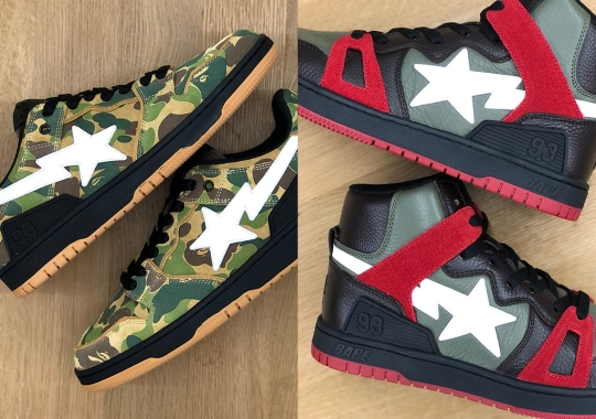 A BATHING APE Closes Out The Summer With New SK8 STAs and BAPE STA 93s