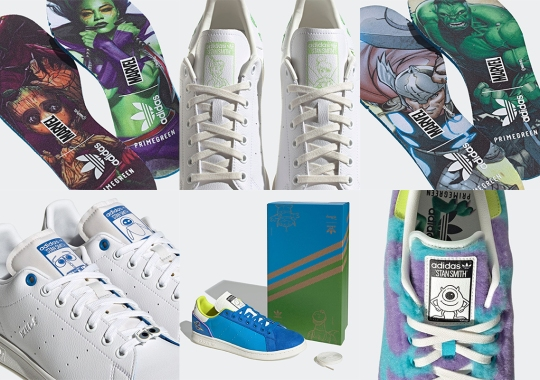 Thor, Baby Groot, Mike Wazoski, Wall-E Another Other Disney Duos Appear In Upcoming adidas Stan Smith Collection