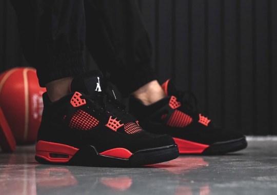 """On Foot Look At The Air Jordan 4 """"Red Thunder"""""""