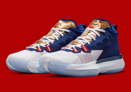 The Jordan Zion 1 Appears In A USA Colorway