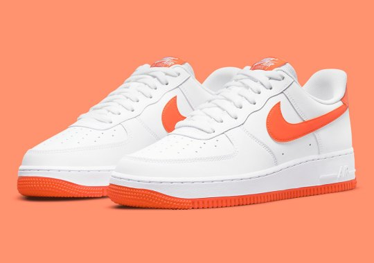 Can't Go Wrong With The Nike Air Force 1 Low In A Clean White And Orange