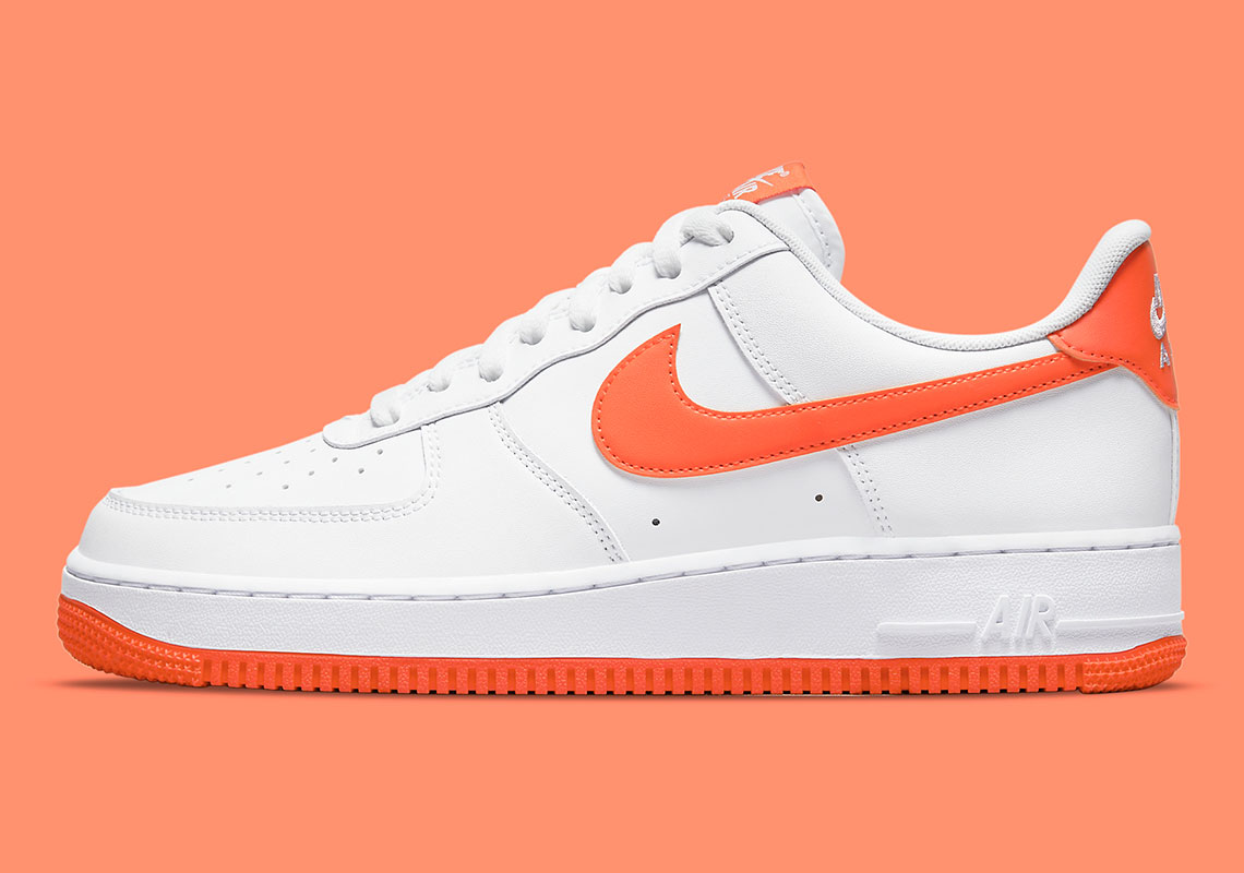 Nike Air Force 1 White Orange DC2911-101 | SneakerNews.com