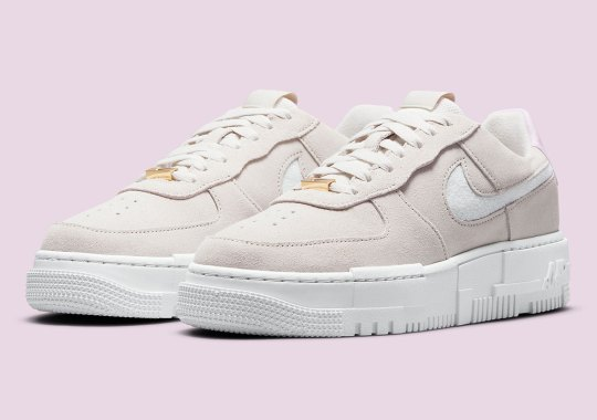 Beige Suedes Appear On This Nike Air Force 1 Pixel