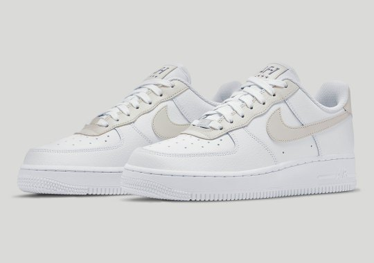 """""""Light Bone"""" Accents Make For A Crisp, New Nike Air Force 1 Colorway"""