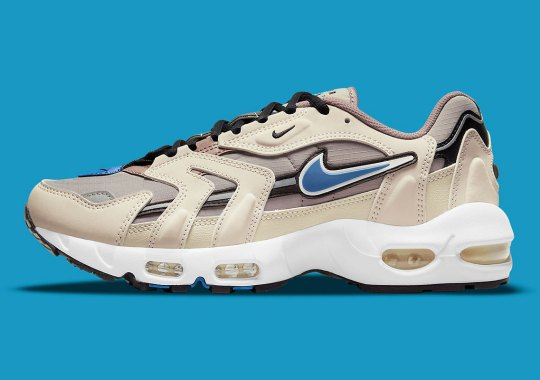 """A Touch Of """"Blue Slate"""" Animates This """"Malt"""" Nike Air Max 96 II"""