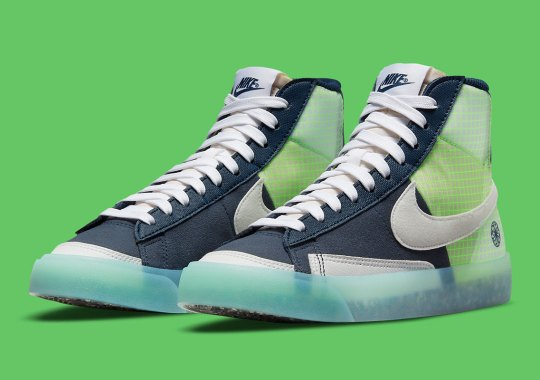 """The Nike Blazer Mid """"Move To Zero"""" Arrives In Kids-Exclusive """"Armory Navy"""""""