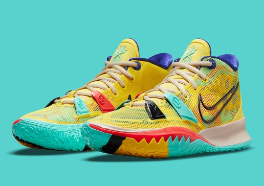 """Nike Kyrie 7 """"1 World 1 People"""" Arriving Soon In Bright Yellow"""