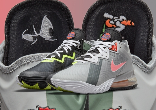 Bugs Bunny And Marvin The Martian Face Off On This Nike LeBron 18 Low