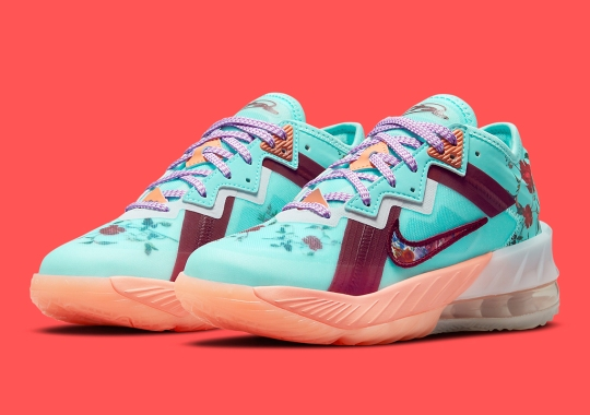 This Kids-Exclusive Nike LeBron 18 Low Is Covered in Florals