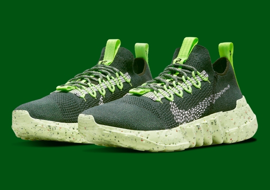 """Nike Space Hippie 01 """"Carbon Green"""" Paired Up With Electric Green"""