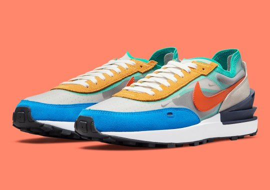 Another Multi-colored Mix Of Tones Land On The Nike Waffle One