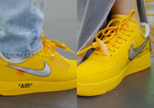 """Off-White Reveals Release Information For Nike Air Force 1 """"Lemonade"""""""