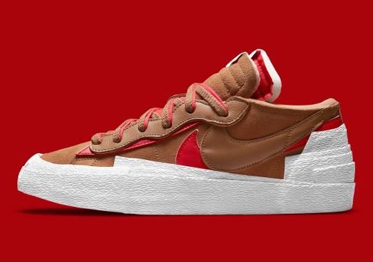 "The sacai x Nike Blazer Low ""British Tan"" Releases August 4th"