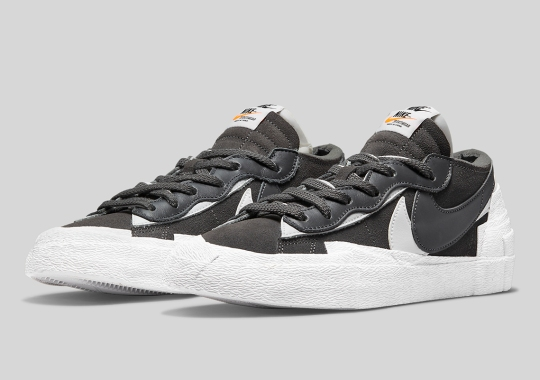 """Official Images Of The sacai x Nike Blazer Low """"Iron Grey"""""""
