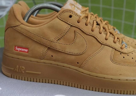 """First Look At The Supreme x Nike Air Force 1 Low """"Wheat"""""""