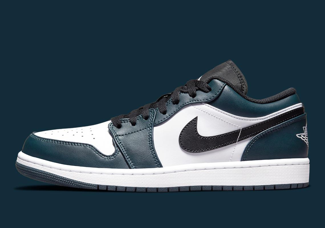 Air Jordan 1 Low Dark Teal 553558-411 Release   SneakerNews.com