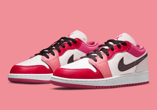 The Air Jordan 1 Low Mismatches Pinks For Its Latest GS Colorway