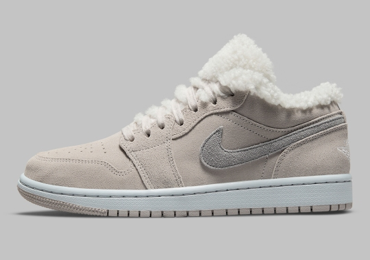 """The Air Jordan 1 Low Gears Up For Winter With A """"Sherpa Fleece"""" Set-Up"""