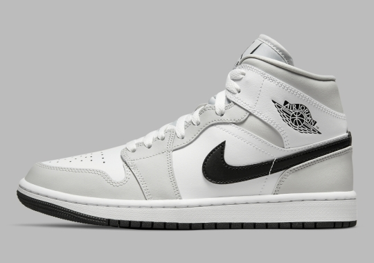 """The Women's Air Jordan 1 Mid Emerges In Another Variation Of """"Light Smoke Grey"""""""