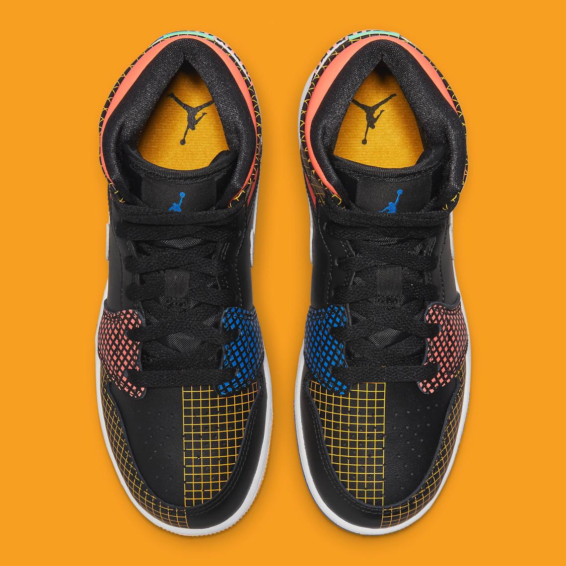 Air Jordan 1 Mid GS Multicolor DC4092-001 Release | SneakerNews.com