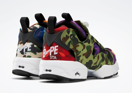 BAPE And Reebok Team Up Again For A Mismatched Instapump Fury