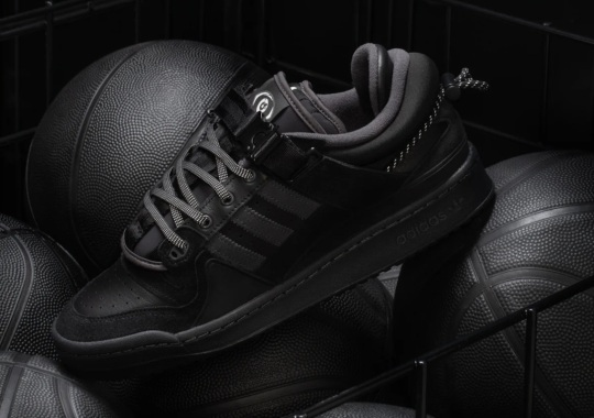 Bad Bunny's All-Black adidas Forum Buckle Low Was Inspired By Childhood School Uniforms