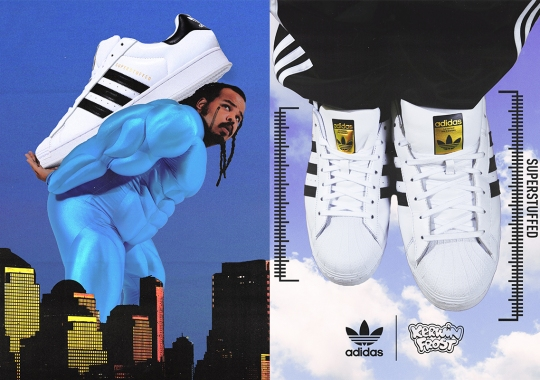 """Kerwin Frost's """"Superstuffed"""" adidas Superstar Is Inspired By Clowns And Mascots"""