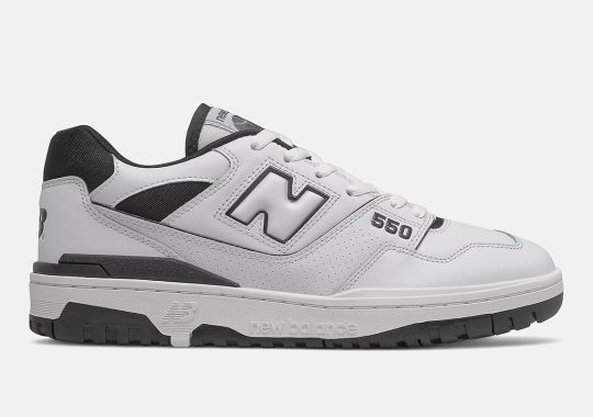 The New Balance 550 Keeps It Simple With This Black And White Entry