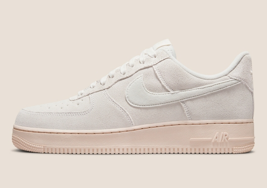 Peach Soles And Fuzzy Suedes Sweeten This Nike Air Force 1