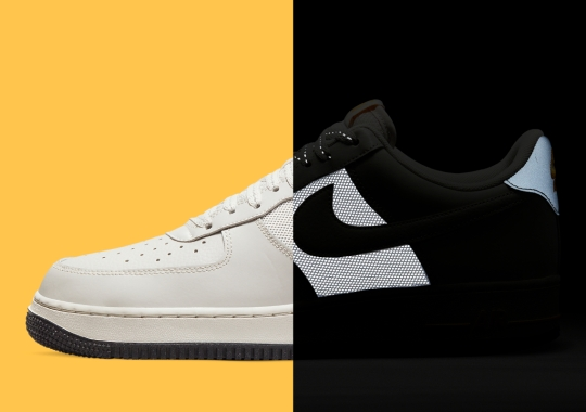 The Nike Air Force 1 Low Appears With Reflective Mid-Foot Panels