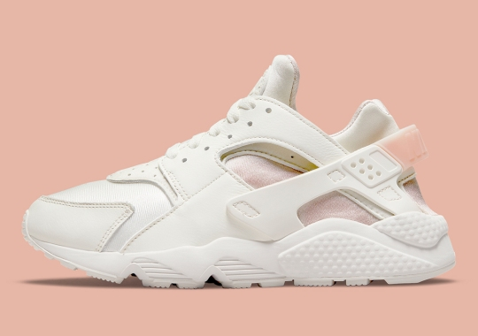 The Nike Air Huarache Goes For A Classic Pink And White Colorway
