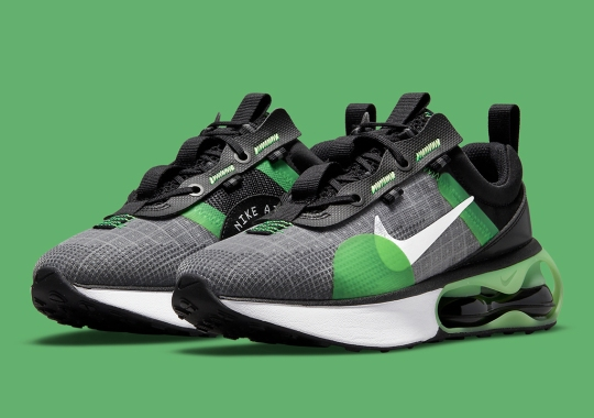 The Nike Air Max 2021 Appears In Black And Green