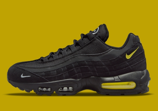 Mustard Yellow Accents Appear On This Stealthy Nike Air Max 95