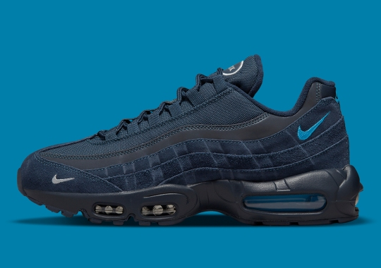 The Mini-Swooshed NIke Air Max 95 Arrives In Navy Blues