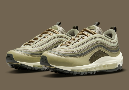 The Nike Air Max 97 Appears Wearing Multiple Shades Of Green
