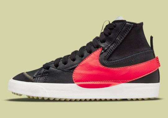 """Bright Crimson"" Further Animates This Nike Blazer Mid '77 Jumbo"