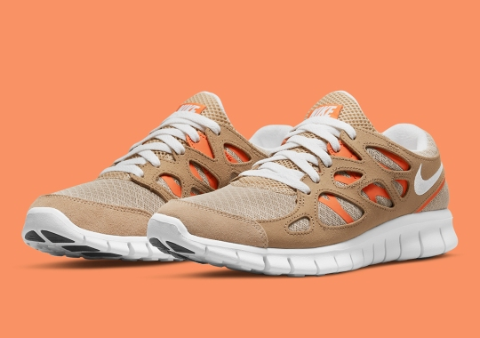 The Nike Free Run 2 Details This Sand Colorway With Orange Accents