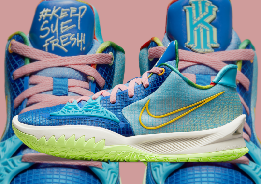 """""""Laser Blue"""" Animates The Latest Nike Kyrie Low 4 """"#KeepSueFresh"""""""