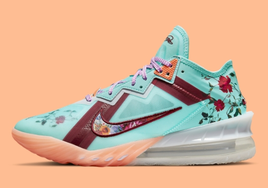 """The Nike LeBron 18 Low """"Floral"""" Appears For Adults"""