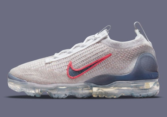 Red Swooshes Animate This Greyscale Nike VaporMax Flyknit 2021