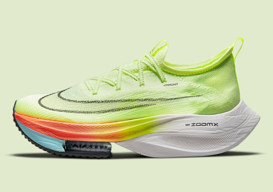 Volt Uppers And Gradient Soles Brighten Up This Nike Zoom AlphaFly NEXT%