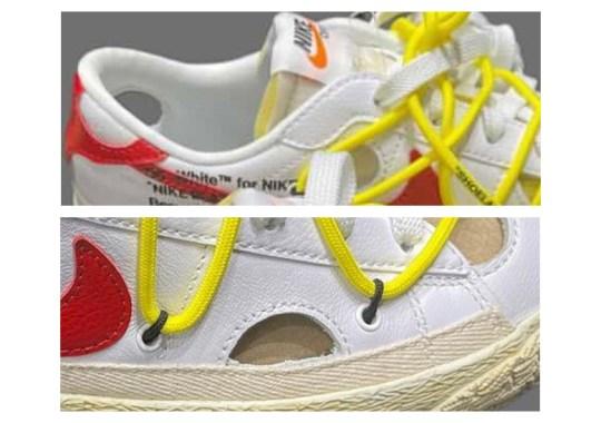 Sneak Peek At The Second Off-White x Nike Blazer Low Colorway