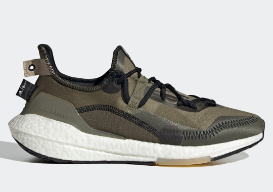 The Parley x adidas UltraBoost 21 Sees An Olive Makeover