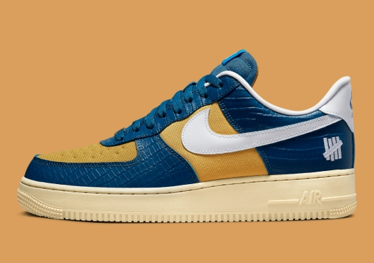 """Official Images Of UNDEFEATED's Blue And Yellow """"Dunk VS AF-1"""" Collaboration"""