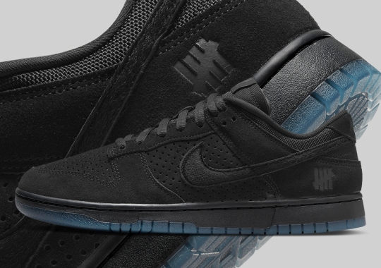 """The UNDEFEATED x Nike Dunk Low """"Dunk vs. AF-1"""" Officially Appears In An All-Black Colorway"""