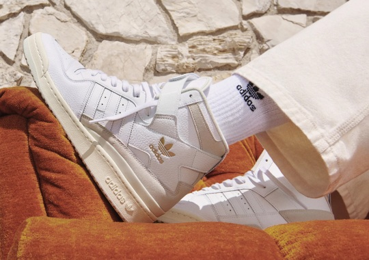 This Clean adidas Forum '84 High Features Gold Trefoil Logos
